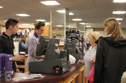Photo by Hui Li '21. Families visit the book store last weekend.