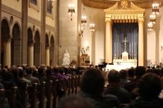 Photo by Hui Li '21. Father Boroughs presides over Mass on Sunday.